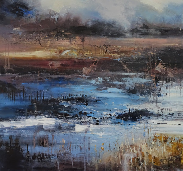 Ancient journey 4 80x80cm-Claire Wiltshire-Original Oil Painting-Unframed