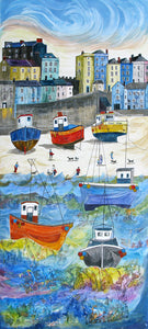 Anya Simmons-The Tenby Experience 2-Open Print-Wychwood Art