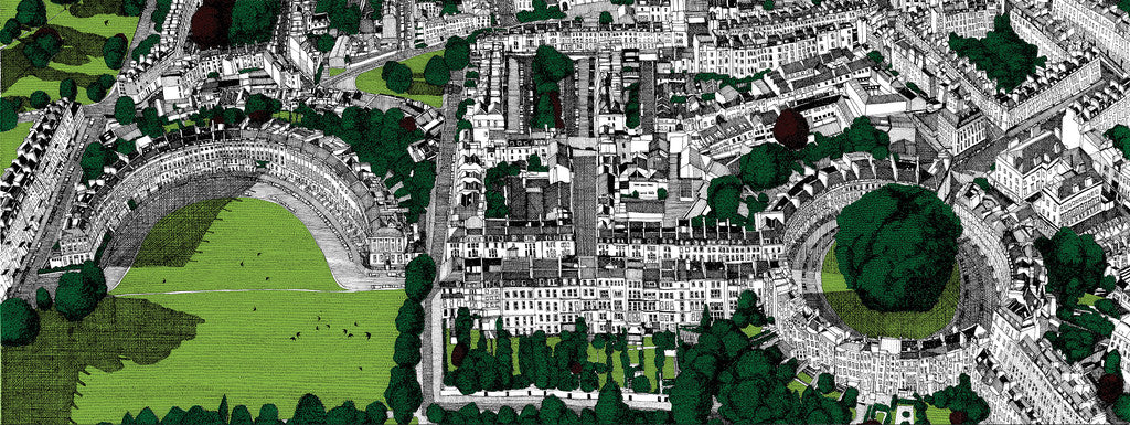 Clare Halifax Here's Looking at View Bath Wychwood Art