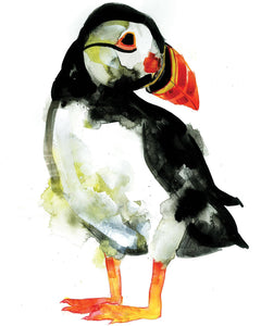 Puffin, Gavin Dobson, Limited Edition Print, Bird art, Affordable art