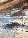 Claire Wiltsher- Ancient Joruney 4 - Original Oil Painting - Landscape Painting -River Painting- English Countryside -Impressionist Painting- Blue -White -Atmospheric Art