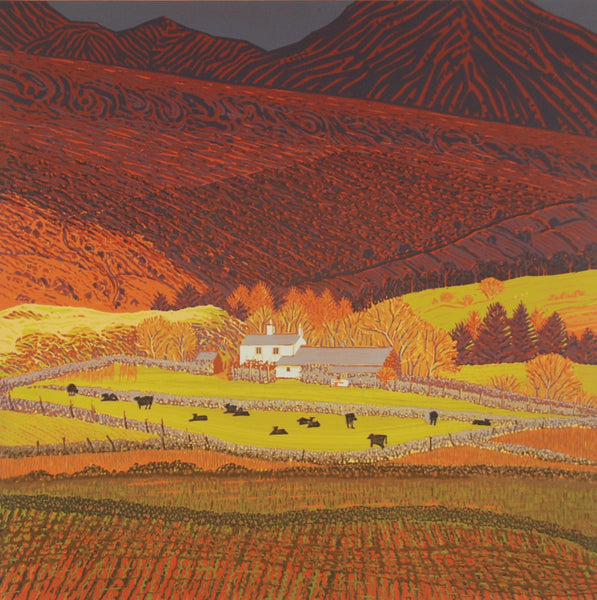 Mark A Pearce Hill Farm with Black Cows wychwood art