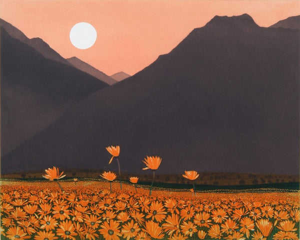Phil-Greenwood-Art-Turner-Barnes-Gallery-Marigold-Mountain-Etching-1-877x700