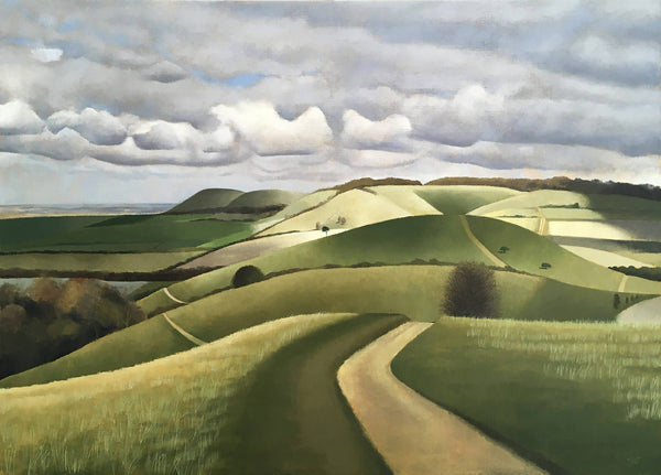 Pitstone Hill , TIm Woodcock Jones, Landscape painting for sale,
