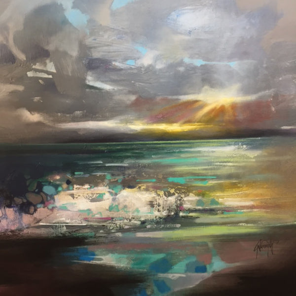 Scott naismith - Wy chwood Art - Scottish Landscape - semi abstract
