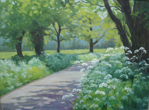Andrea Bates, Springtime Broughton, Original Oil Painting, Landscape, English Countryside