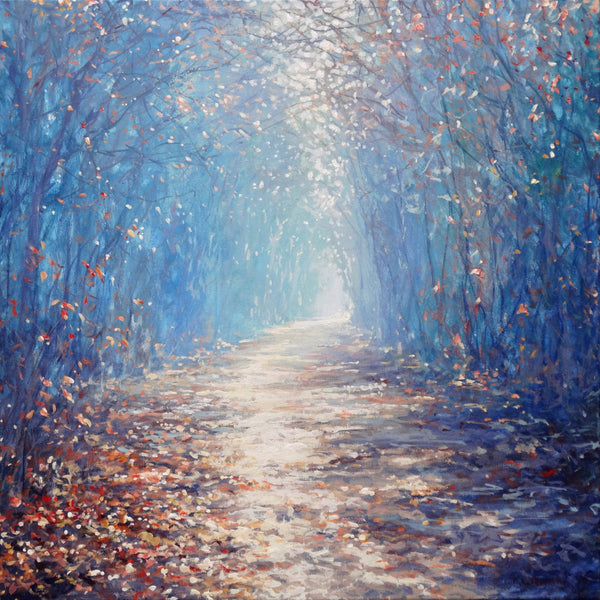 Woodland Path, Mariusz Kaldwoski, Acrylic on Canvas, original painting for sale