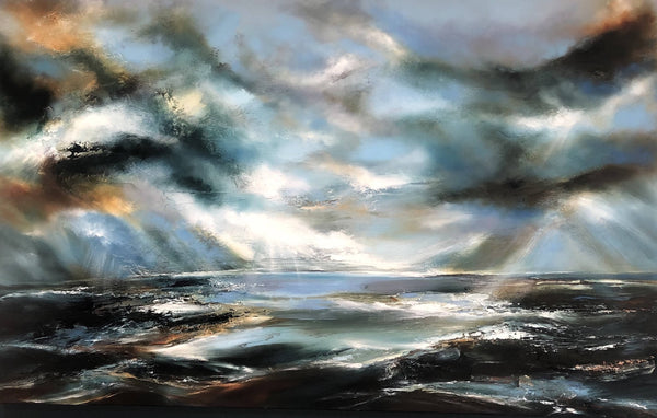 Exalted - Helen Langfield - Oil Painting - Original Artwork - Seascape - Affordable Art - Expressive Painting