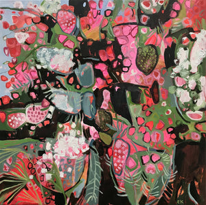 Bougainvillea I, Elaine Kazimierczuk, Semi-abstract painting