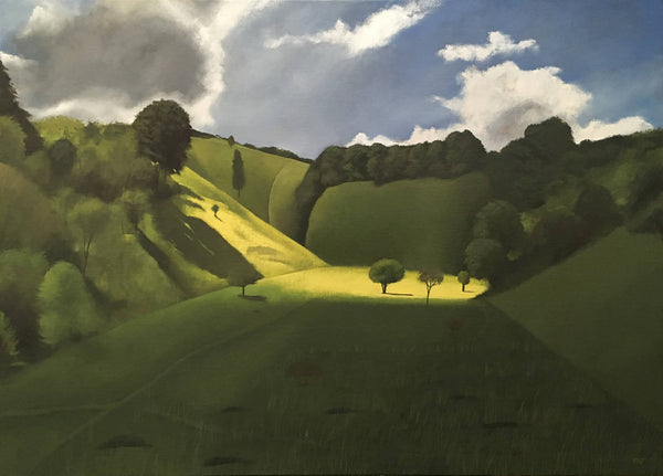 Near Pegsdon Tim Woodcock Jones , large original painting for sale