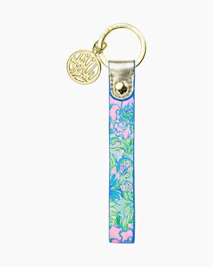 LILLY PULITZER STRAP KEYFOB, PARTY THYME