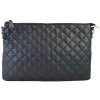 Personalized Black Quilted  Clutch/Crossbody