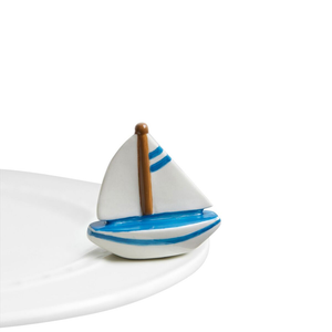 Nora Fleming Minis - Sailboat