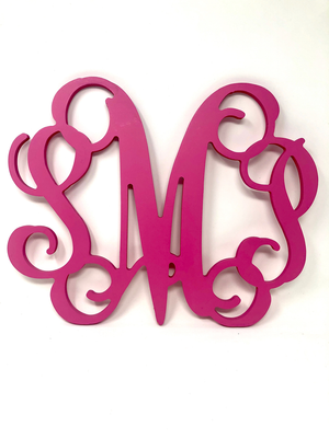 "14"" Small Wooden Monogram Vine Font with Bow"