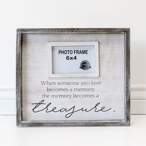 WHEN SOMEONE YOU LOVE BECOMES - WOOD FRAME