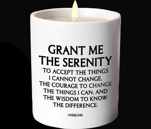Quotable Candle - Grant Me the Serenity