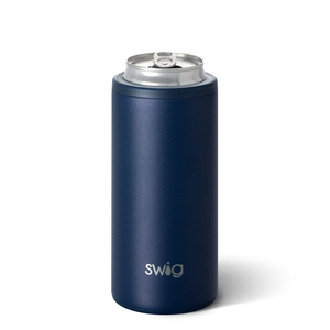 SWIF 12OZ SKINNY CAN COOLER - MATTE NAVY