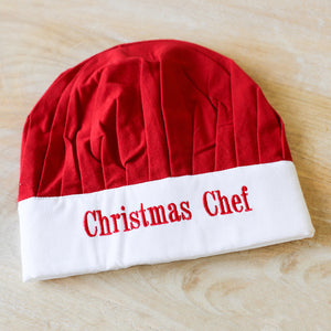 Christmas Chef Baking Hat - Red/White
