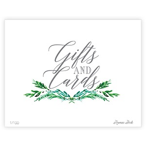 WEDDING GREENERY GIFTS AND CARDS