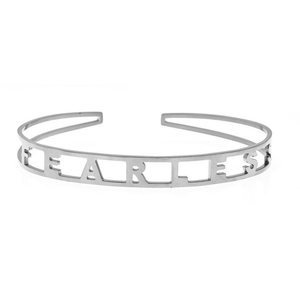 EMPOWERED CUFF BRACELET IN WHITE - FEARLESS
