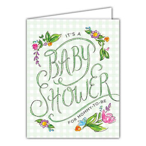 It's a Baby Shower Small Folded Greeting Card