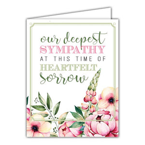 Our Deepest Sympathy Small Folded Greeting Card
