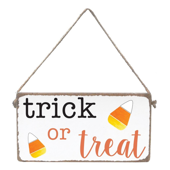 Rustic Mini Plank- Trick Or Treat