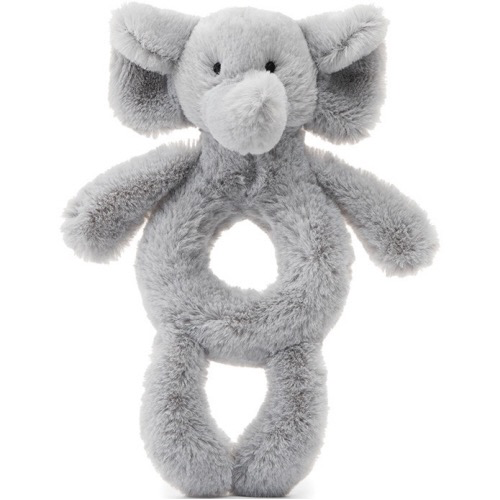 Grey Elephant Ring Rattle