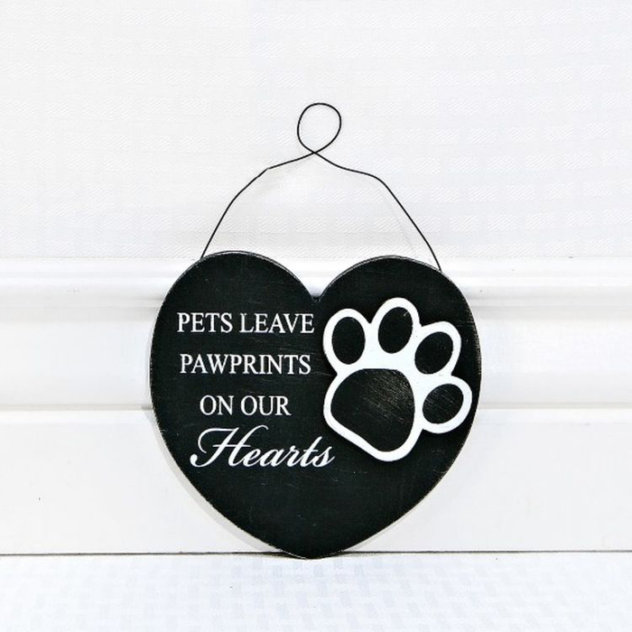 Pets Leave Pawprints Wooden Ornament