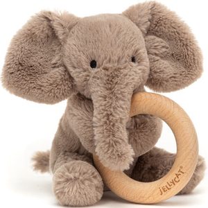 Shooshu Elephant Wooden Ring Rattle