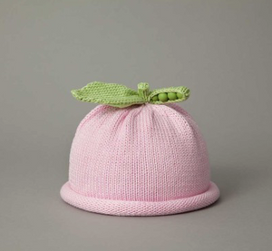 Pink Sweet Pea Knit Hat