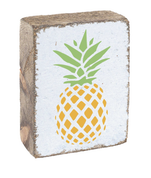 Rustic Block- Pineapple