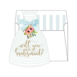 Will You Be My Bridesmaid-Tiffany Die Cut Stationary