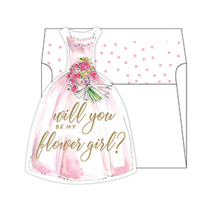 Will You Be My Flowergirl? Pink