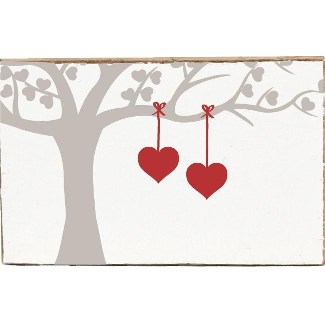 Rustic XL Block- Heart Tree