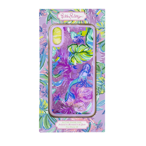 LILLY PULITZER IPHONE GLITTER XR CASE, MERMAID IN THE SHADE