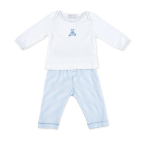 Essentials Baby's Teddy Embroidered 2-Piece Pant Set