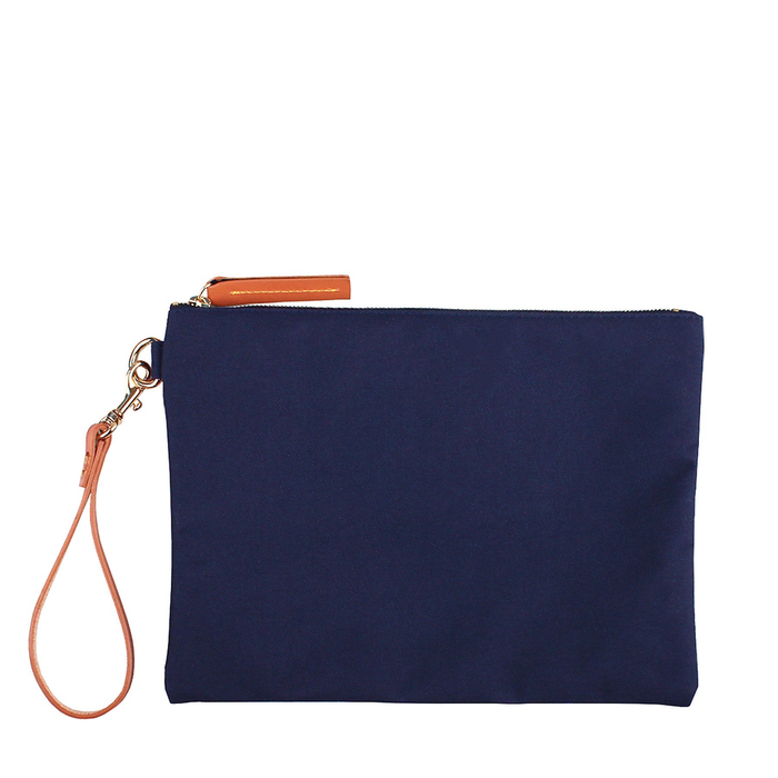 NAOMI NYLON CLUTCH - NAVY