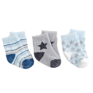 Boys Fuzzy Socks - 3 Pack Boxed