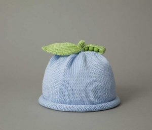Blue Sweet Pea Knit Hat