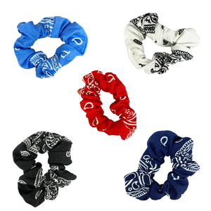 PAISLEY SCRUNCHIES - SET OF 5