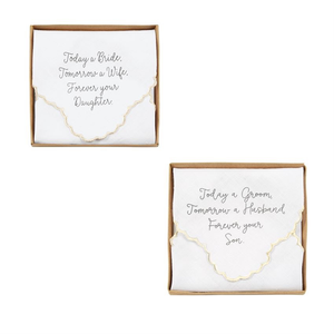 Boxed Wedding Handkerchief With Sentiment
