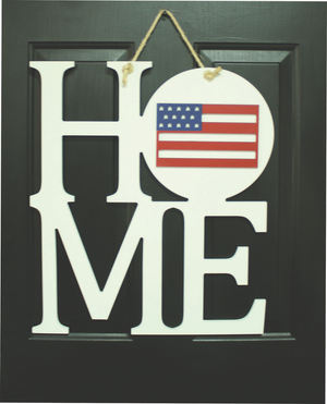 "HOME SIGN - BASE, WHITE, 22""x22"""