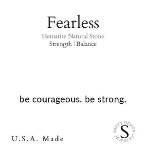INTENTION WORD BRACELET - FEARLESS