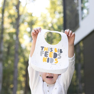 This Bib Feeds Kids Wonder Bib-Yellow