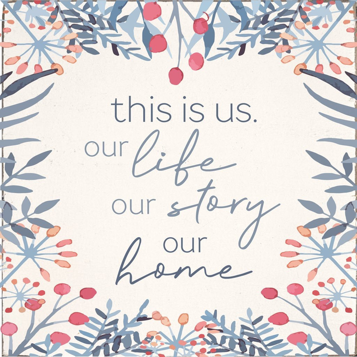 RUSTIC SQUARE BLOCK - OUR LIFE OUR STORY