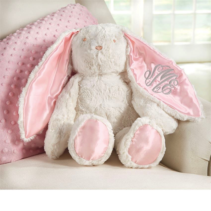 Personalized Pink Floppy Earred Bunny