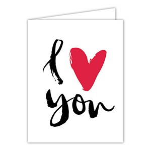 GREETING CARD - I HEART YOU