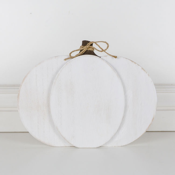 PERSONALIZED CHUNKY WOOD PUMPKIN CUTOUT