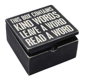 Hinged box - Words of Kindness